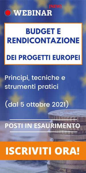 webinar budget e rendicontazione progetti europei